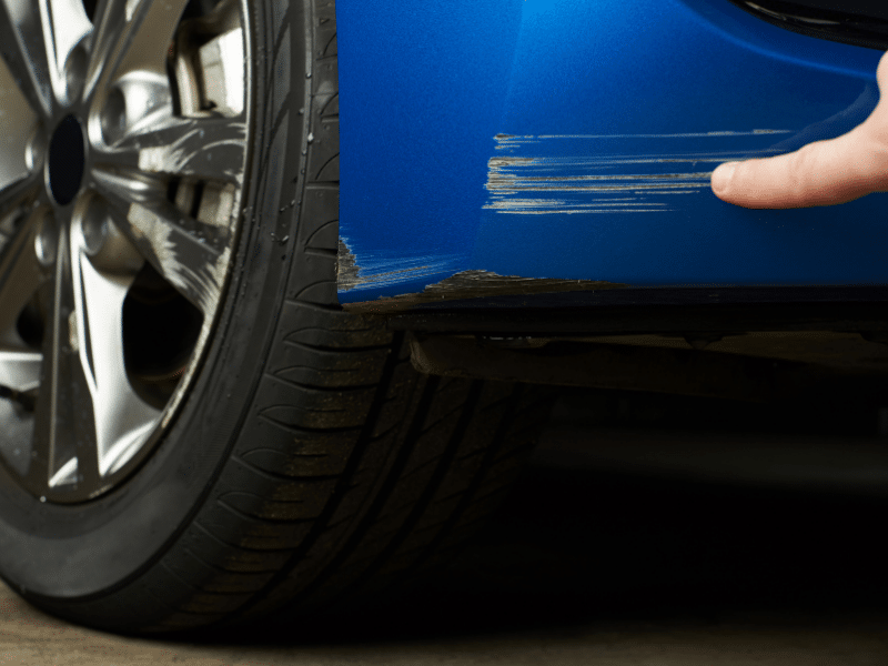 The Different Depths of Exterior Paint Scratches On Your Car